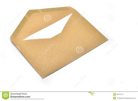 Envelopes With Paper - opened brown envelope with paper stock photo image 30072712