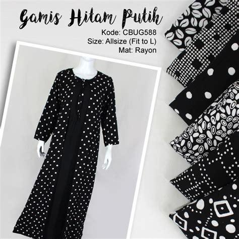 Gamis Batik Hitam gamis cardigan hitam putih klasik gamis batik murah