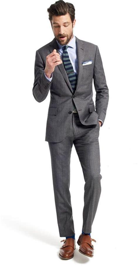 light grey suit brown shoes light grey suit combo dress yy
