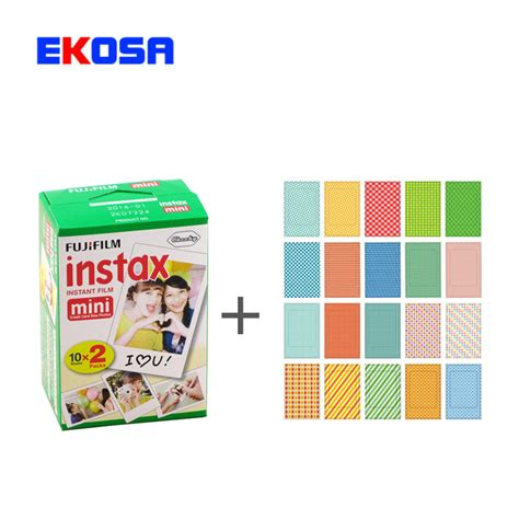 Fujifilm Instax Mini Paper Special Pack 1 Pack fujifilm instax mini 8 20 sheets instant photo 20 sheets stickers for instax mini 7s 8 25