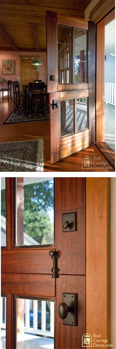 Handsome Dutch Door With Leaded Glass By Real Carriage Interior Carriage Doors