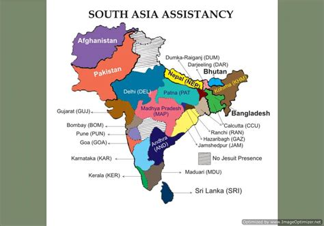 map of south asia map of south asia assistancy jesuit conference of south asia