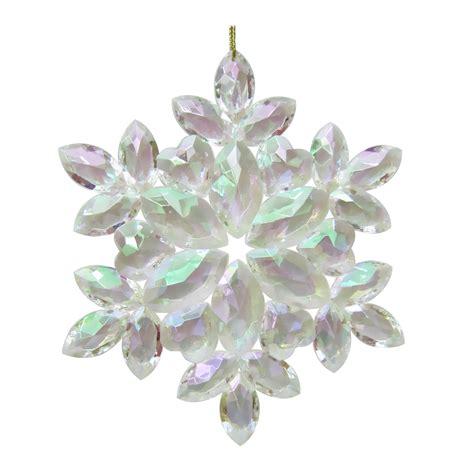 donner blitzen incorporated acrylic iridescent snowflake