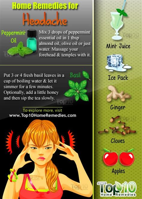 home remedies for headache top 10 home remedies