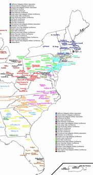 map of universities colleges and universities east coast colleges and
