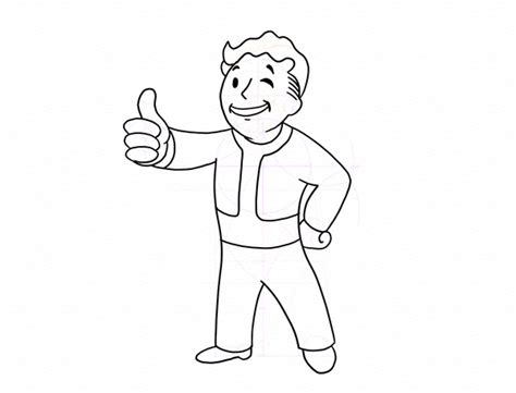 vault boy coloring page fallout easy coloring pages