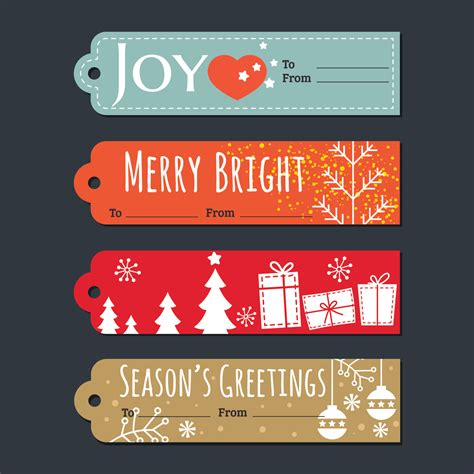 christmas holiday gift tags  labels set   vectors clipart graphics vector art