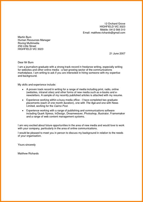 Introduction Letter For Internship 9 How To Write A Letter Of Introduction For A