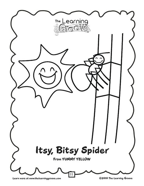 Itsy Bitsy Spider Coloring Pages itsy bitsy spider coloring pages coloring home