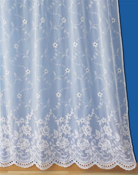 Voilages Blancs 520 by Lace Curtain By The Yard Verone