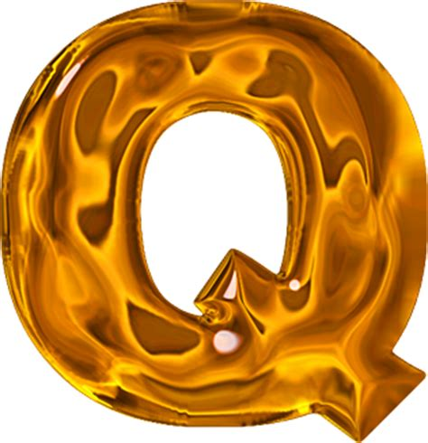College With The Letter Q Presentation Alphabets Lumpy Gold Letter Q