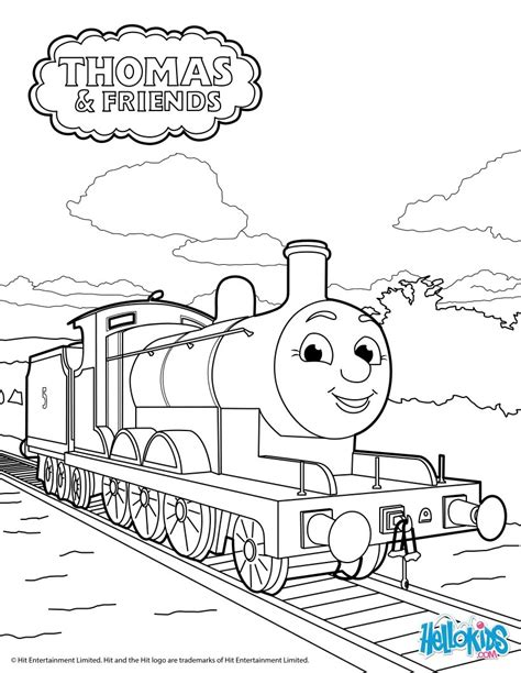 thomas james engine coloring page coloring pages