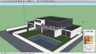 sketchup maison moderne