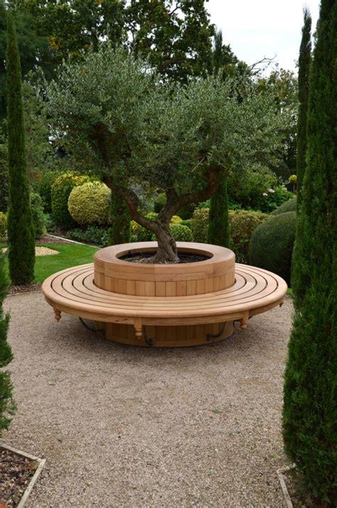 metal circular tree seats circular oak tree seat with forged brackets