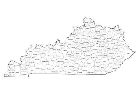 map of kentucky counties kentucky state map printable gallery