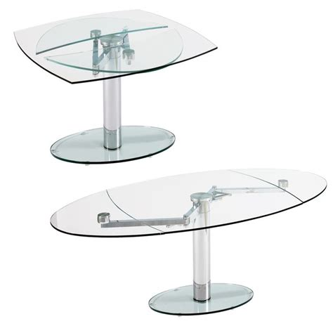 Glass Extension Dining Tables Luca Glass Extending Dining Table Clear Dining Tables