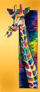 colorful giraffe painting painting acrylic linzi giraffe