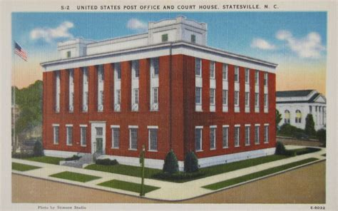Hendersonville Nc Post Office by Carolina Post Office Postcards