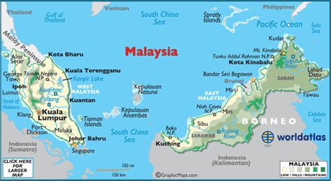 map of malaysia malaysia map geography of malaysia map of malaysia worldatlas