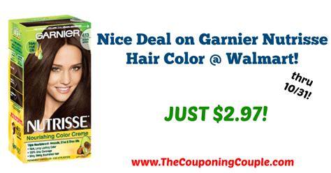 deal on garnier nutrisse hair color walmart