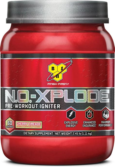 b alanine and creatine bsn n o xplode pre workout supplement with