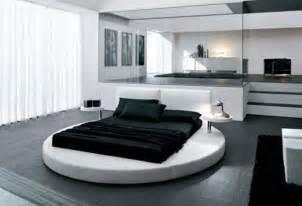 black white bedroom interior