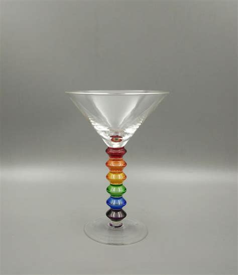 martini rainbow colorful rainbow martini glass stemware