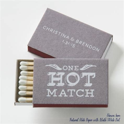 Wedding Box Matches by One Match Personalized Match Boxes Min Of 25 Wedding