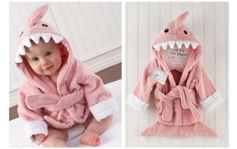 baby shark trend cute toothy kimonos shark baby bathrobe