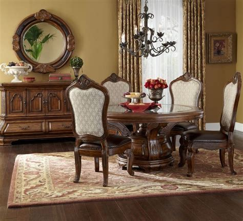 aico tuscano dining table set in melange