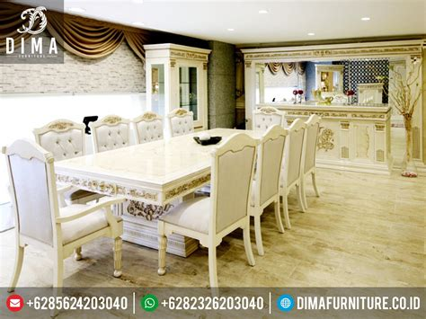 Meja Makan Set Jepara set meja makan klasik mewah jepara st 0230 sofa tamu jepara