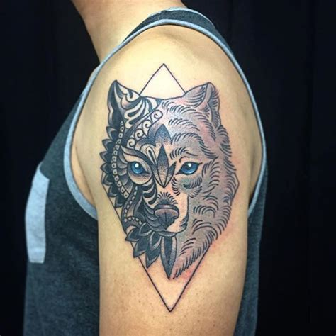 electric tiger tattoo wolf by electric tiger