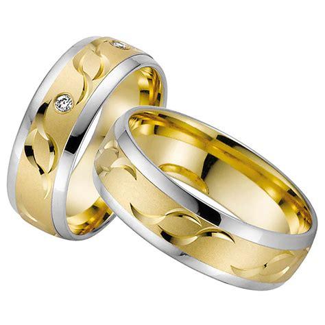 Trauringe Paar by By Goettgen Trauringe Paar Gelb Weiss 333 Gold