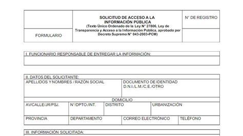 formato de solicitud de informacion publica noticia 191 c 243 mo presentar una solicitud de acceso a la