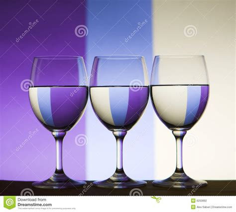 %name Colored Wine Glasses   Triple Refraction Wine Glasses Stock Photo   Image: 6250892