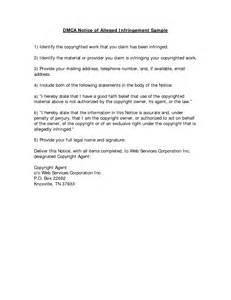 copyright infringement notice template infringement notice letter images