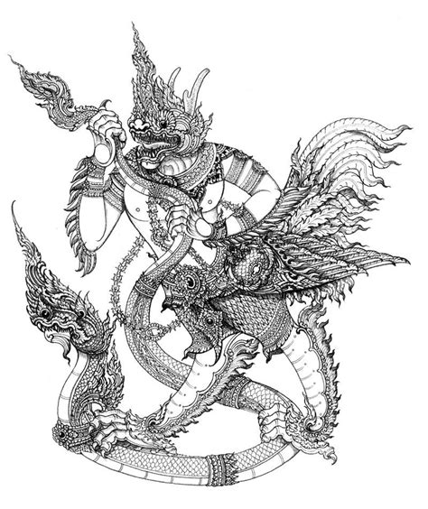 thai dragon tattoo designs quot krut yut nak quot ver 2 inspiration thai s the