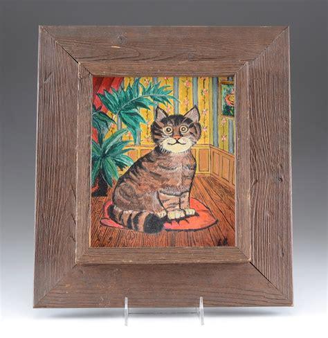 folk acrylic paint on wood folk cat acrylic painting ebth