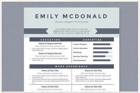 modern resume template docx modern resume templates docx to make recruiters awe