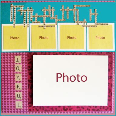 scrabble layout on ideas challenge layout with a scrabbled message