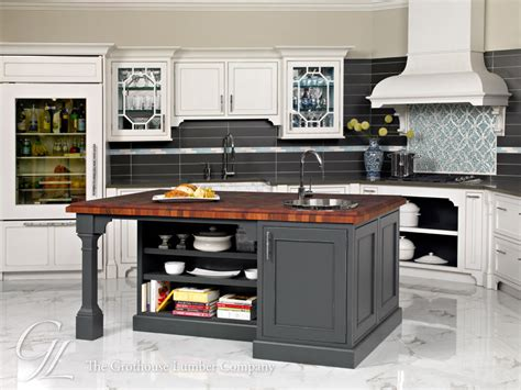 Kitchen Island With Butcher Block Top mahogany butcher block island countertop in pennsylvania
