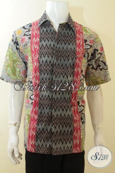 Baju Pakaian Pria Busana Kemeja Pendek Motif Batik Murah 3 pakaian batik pria busana batik lengan pendek cap