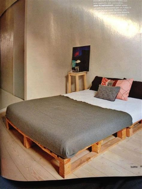 bed on pallets diy 20 pallet bed frame ideas 99 pallets