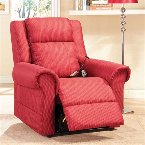 plush recliner chair dreamfurniture com dionna burgundy plush electric lift
