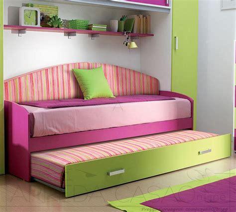 letto doppio bambini divano letto cameretta bambini con rete estraibile