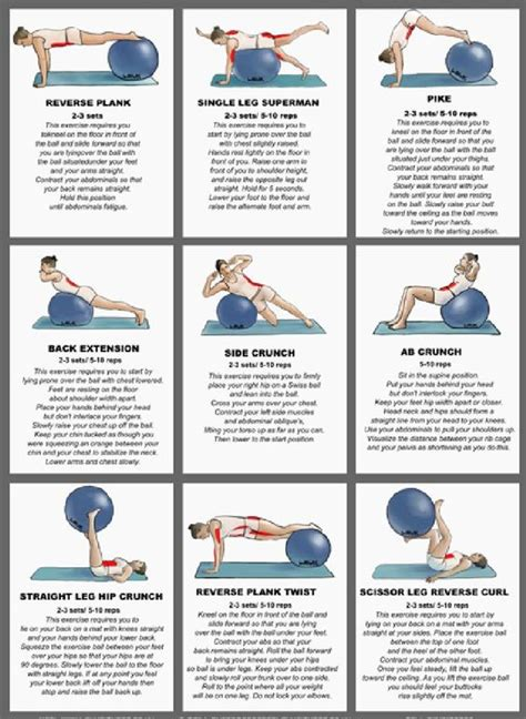 printable exercise ball workouts for beginners pinterest the world s catalog of ideas