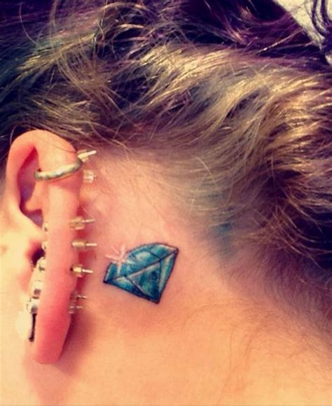 umbrella tattoo behind ear 17 best images about diamond tattoos on pinterest