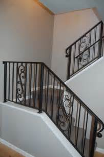 wrought iron stair rails traditional staircase seattle