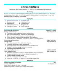 resume template administrative coordinator iii salary wizard administrative coordinator resume exle social services sle resumes livecareer