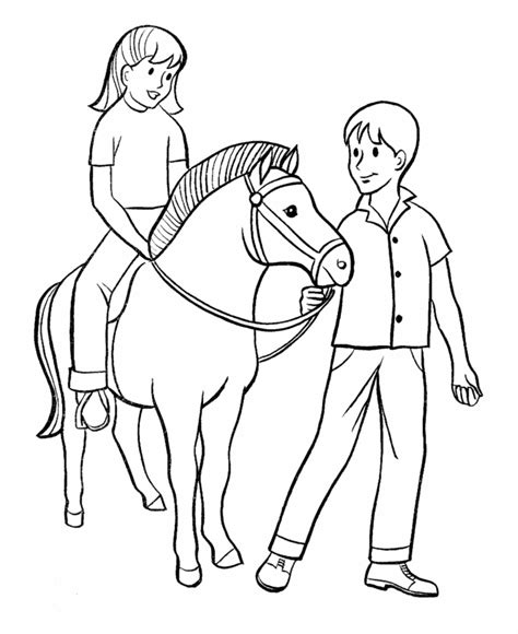 free coloring pages of girl in pony trap horse coloring pages for girls az coloring pages